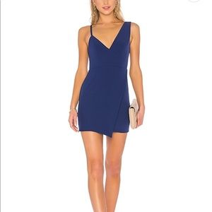 navy NBD adios mini dress